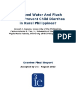 Do Piped Water and Flush Toilets Prevent Child Diarrhea in Rural Philippines