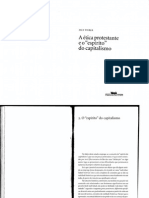 Texto 6 - WEBER, M a Ética Protestante e o Espírito Do Capitalismo