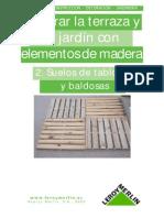 Decorar El Jardin - Suelos de Madera y Baldozas