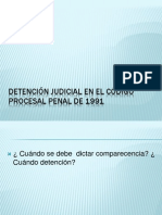 Detención Judicial en El Código Procesal Penal De