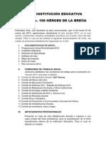 INSTITUCIÓN EDUCATIVA 150 + Orientaciones