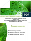 Computing Transformations in SPSS