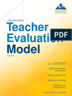 marzano teacher evaluation model model-word document