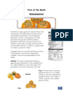 Fruit of the Month PERSIMMONS!
