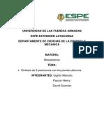 Determinacion de Las Longuitudes de Los Eslabones Para Un Mecanismo Para Tres Posiciones Del Acoplador