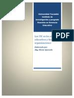 Las TIC en Los Sistemas Educativos y Las Organizaciones