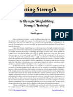 Is Olympic Weightlifting Strength Training? Mark Rippetoe