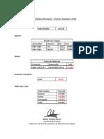 Cuenta Pública Finanzas I Semestre