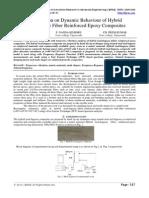 IJIRAE::Investigation on Dynamic Behaviour of Hybrid Sisal/Bagasse Fiber Reinforced Epoxy Composites