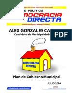 Plan de Gobierno Democracia Directa (Alex Gonzales), Municipalidad de Lima