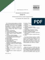 Speech Communication Volume 14 Issue 1 1994 [Doi 10.1016%2F0167-6393%2894%2990060-4] -- ICSLP 94 1994 International Conference on Spoken Language Processing- 18–22 September 1994, Yokohama, Japan