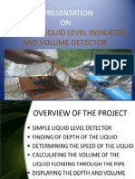 Liquid Level Speed and Vol Detector