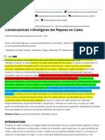 Consecuencias Fisiológicas Del Reposo en Cama - Fisiología Del Ejercicio _ G-SE