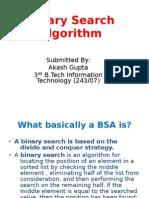 Binary Search Algorithm