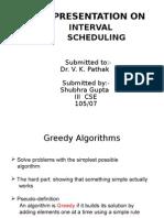 Ppt interval scheduling 49cs
