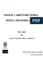 InnovaciónyCompetitividadSistémica en ALC (CEPAL)