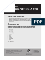 Completing a PHD