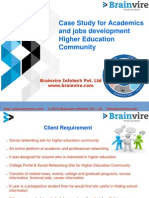 Case Study for Academics and jobs development Higher Education Community