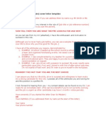 First Job Cover Letter Template