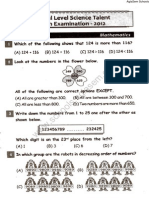 NSTSE 2012 Question Paper for Class 3