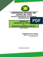 Procesos I - Manual del Curso de Ingeniería de Procesos I & Procesos Agroindustriales (Teoría)