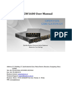 OpenVox VoxStack VS-GW1600-20G User Manual