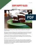 Peppermint Patty Cake