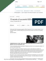 10 Secrets of Successful B2B Selling