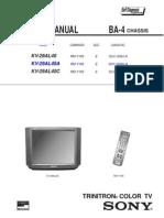 Sony Chasis Ba-4 Kv-29al40a c Service Manual