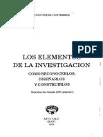 Cerda Hugo Los Elementos de La Investigacion PDF