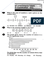 NSTSE 2013 Question Paper for Class 6