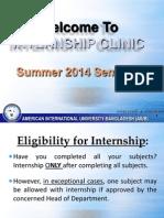 Internship Clinic Summer 2014