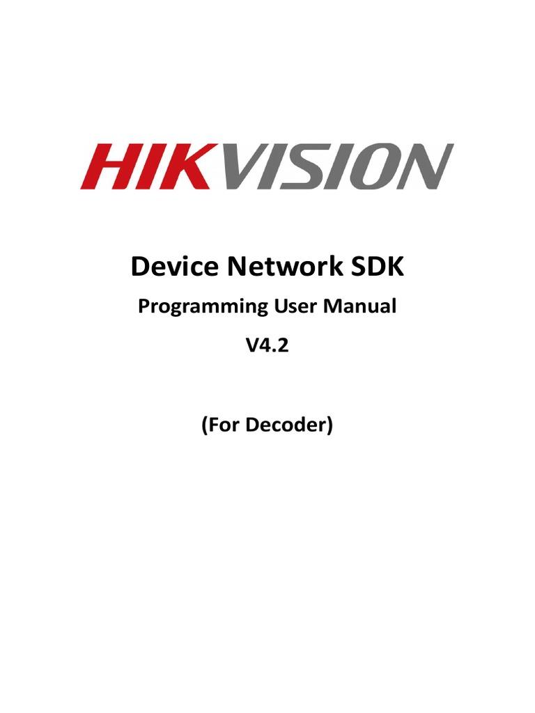 Device Network SDK Programming Manual(Decoder)   Streaming Media   Codec
