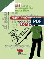 Guía para el funcionamiento democrático de un Centro Educativo y para enfrentarse  a la aplicación de la LOMCE