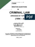 Criminal Law Answers 1994 2006