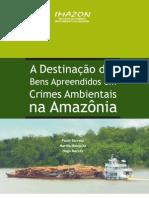 Destinacao de bens apreendidos na amazônia