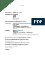Checklist e