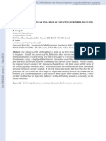 DRILL-STRING NONLINEAR DYNAMICS ACCOUNTING FOR DRILLING FLUID