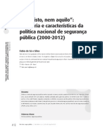 Texto 4 - Trajetória da política de segurança pública