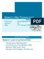 SWT - Lecture 2 [Semantic Web Structure] - 14-01-2009