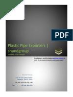 Plastic Pipe Exporters