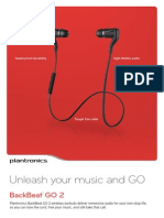 Plantronics BackBeat GO 2 Bluetooth Wireless Stereo Earbuds