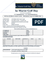 Golf Day 2014 Entry Form