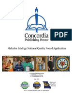 2011 Concordia Award Application Summary