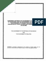 DTC agreement between Malaysia and San Marino
