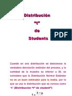 """Distribución """"t"""" de Students"""