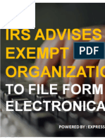 IRS Advice Exempt Organization to File Form 990-n Electronically