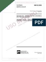 NM 52 (2009) - Agregado Miúdo - Determinação de Massa Específica e Massa Específica Aparente