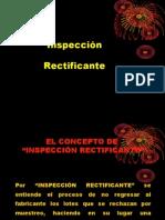 Parámetros Inspección Rectificante