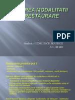 Alegerea Modalitatii de Restaurare